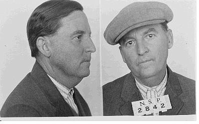 Photo courtesy of Nevada State Library and Archives Nevada State Prison mug shots taken of bank robbers Charles Fitzsimmons, left and George Moore in 1927.
