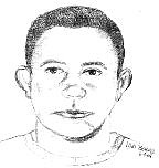 A police sketch of a suspect wanted for attempted murder.