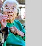 Winona James,  a Washoe Tribe elder, died Tuesday at 102.  James is shown here at her South Carson City home in March 2000.   Nevada Appeal  file photo  by cathleen  allison