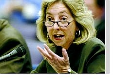 Sen. Dina Titus, testifies before a joint budget committee  Tuesday at the Legislature.  Lawmakers got their first look at proposals to relieve  property taxes.   Cathleen Allison Nevada Appeal