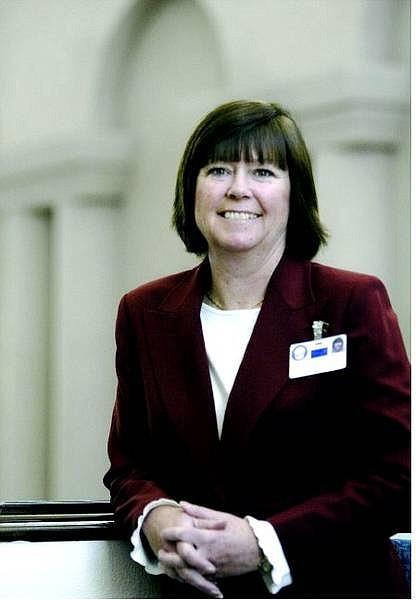 Cathleen Allison/Nevada Appeal Lobbyist Mary Walker at the Legislature Monday.