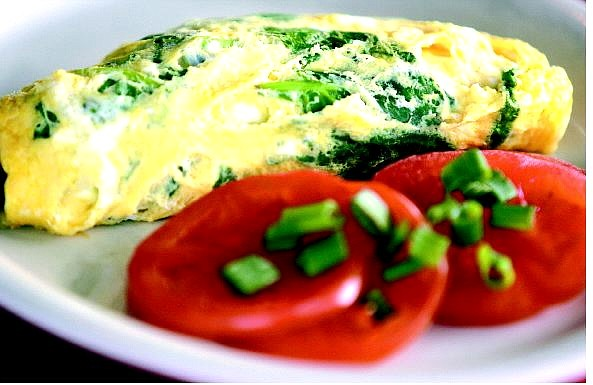 BRAD HORN/Nevada Appeal An omelet made by the owner of the Cracker Box restaurant, Jerry Massad. See below for the recipe.