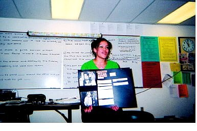 Michele Peltier/special to the Appeal Jennce Singleton presents a report to prepare for her Senior Project oral presentation.