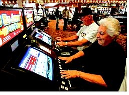 Chad Lundquist/Nevada Appeal News SErvice Shirley and Ron Quilici of South Lake Tahoe are regulars at the Lakeside Inn & Casino at Stateline.