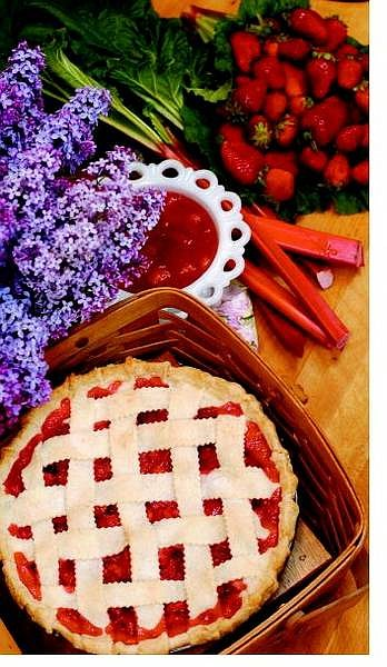 Rick Gunn/Nevada Appeal Strawberry-Rhubarb Pie made by Linda Marrone.