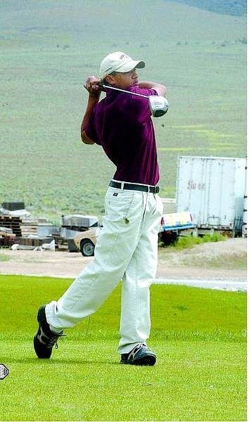 Rick Gunn/Nevada Appeal Kevin Goles of Dayton tees off from Hole 3 at Dayton Valley Golf Course Tuesday.