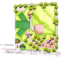 Art provided Conceptual plan for the Silver Oak subdivision park.