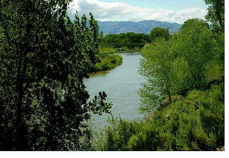 Kevin Clifford/Nevada Appeal The Carson River near Deer Run Bridge looking west toward the Carson Range. Carson City wants to purchase 373 acres along the river from businessman John Serpa to use for open space.