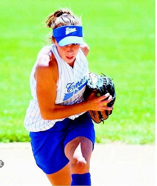 BRAD HORN/Nevada Appeal Carson Comet Desiree Clampitt, 16, makes a running catch at Centennial Park on Saturday.