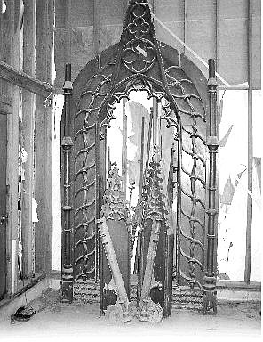 Submitted photo Marti and Tom Deputy inherited this hand-carved wooden arch with the purchased their Ruhenstroth home from James Sexton in 1989. They are moving and are looking for someone to take the arch.