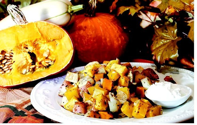 Chad Lundquist/Nevada Appeal Fall Vegetable Hash and Horseradish Cream Sauce prepared by Michelle Palmer.