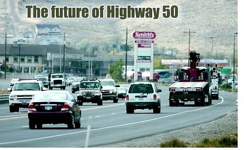 Cathleen Allison/Nevada Appeal Nevada Department of Transportation is beginning a major study of the Highway 50 corridor east of Carson City. The first public hearings are set for today in Silver Springs and Dayton.