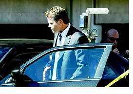 "Jim Grant/Appeal News Service Actor Ray Liotta enters a vehicle used in a scene for the movie ""Smokin' Aces,"" which is being filmed this month in Stateline and South Lake Tahoe."