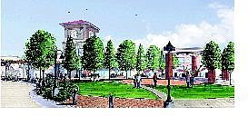 Landmark Communities Artist's rendering of part of the proposed Traditions development in Dayton.