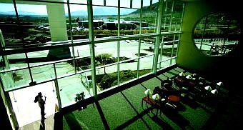 BRAD HORN/Nevada Appeal Spacious waiting areas with plenty of natural light help give the new Carson Tahoe Regional Medical Center spaces of positive distraction to aid in the healing process.