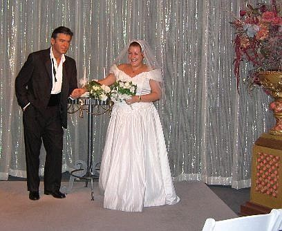 Richard Moreno/Nevada Appeal You can dress up as a bride and pretend to marry actor George Clooney in one of the interactive exhibits at the Madame Tussauds Las Vegas wax museum.