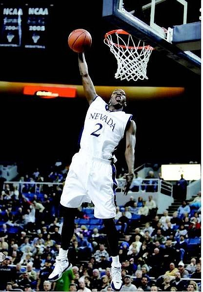 Chad Lundquist/Nevada Appeal Mo Charlo #2 Wolf Pack forward sets up for a dunk during the first half of game 3 against the Seattle Pacific Falcons at Lawlor Events Center on Tuesday.