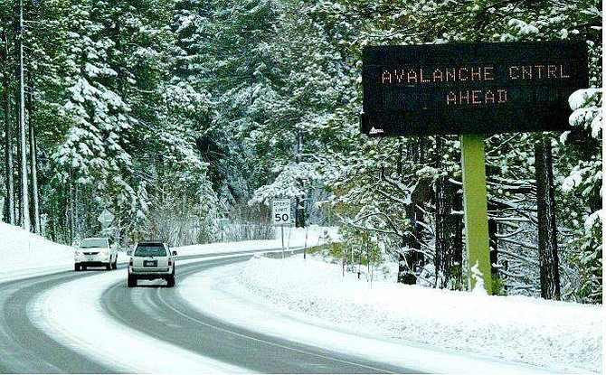 Emma Gerrard/North Lake Tahoe Bonanza A sign at the base of the Mt. Rose Highway in Incline Village warns motorists of avalanche danger.