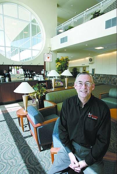 Cathleen Allison/Nevada Appeal Jeff Wilson is the owner of the Walden's Coffeehouse recently opened in the lobby area of Carson Tahoe Regional Medical Center.