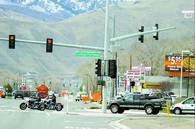 BRAD HORN/Nevada Appeal College Parkway recently replaced Graves Lane at the Hwy 50 intersection in Carson City.