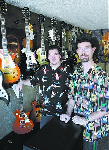 Cathleen Allison/Nevada Appeal Troy White and his son Josh Harman have moved their Cornerstone Music to North Carson Street at Bath.