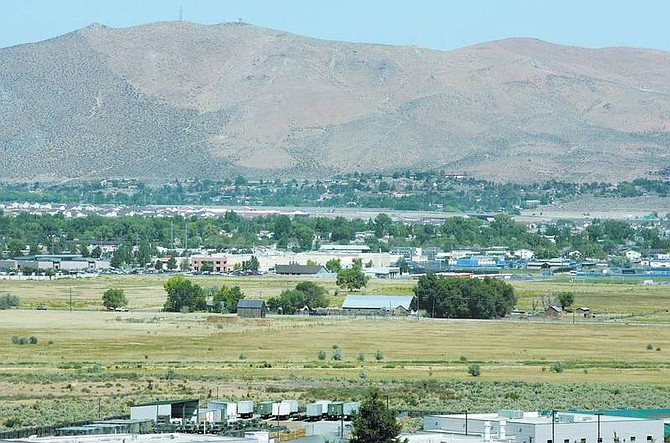 Cathleen Allison/Nevada Appeal Carson City has grown up around the 413-acre Lompa Ranch, which was bought by Sam Lompa in 1936. The family put the ranch on the market in August for $76.6 million.