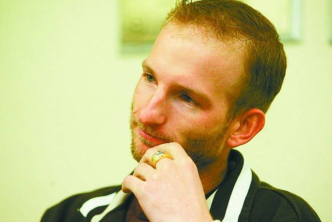 Ryan Salm/Nevada Appeal News Service U.S. Army Spec. Adam Pepper talks about his experiences at war in Iraq and how he handles symptoms of post-traumatic stress disorder.