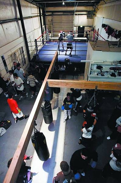Chad Lundquist/Nevada Appeal Bruno's Boxing Club members enjoy the new location at 411 Hot Springs Road on Tuesday after being forced to leave the Stewart Gym.