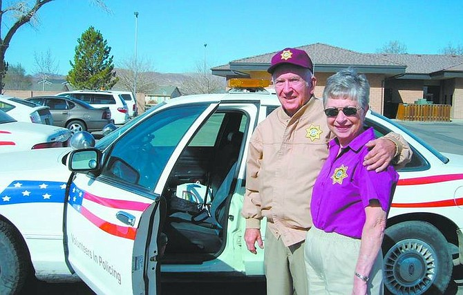 Mary Jean Kelso/Appeal News Service Fernley residents Carl and Joy Thielen are active with the Volunteers in Policing program.
