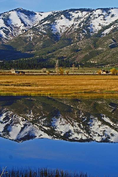 """Ken Jochim, of Carson City, took this photo of Washoe Lake, which is featured on the cover. """"This pictures show how beautiful this area is,"""" he writes."""