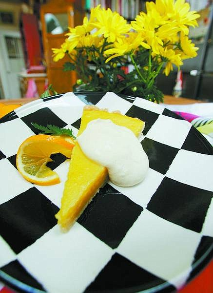BRAD HORN/Nevada Appeal This lemon tart is Linda Marrone's favorite dessert. She said the recipe might seem hard at first, but if you do it in stages it's easier.