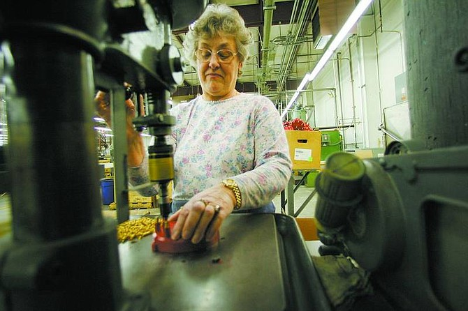 BRAD HORN/Nevada Appeal Josephine Wojtowicz started at Mr. Gasket in 1979. The 125,000-square-foot Carson City plant will close Dec. 31.