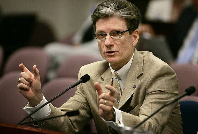 Sen. Joe Heck, R-Henderson,  sponsored a measure that would allow doctors to   apologize to patients for an adverse medical result without having the   apology used against them in court later on.  Cathleen Allison/ Nevada Appeal