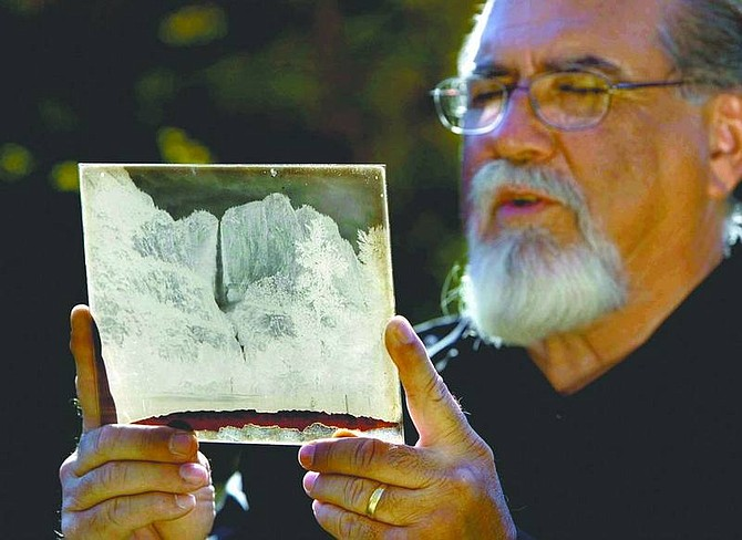 Robert Durell/Los Angeles Times Rick Norsigian holds one of the glass negatives he insists were made by Ansel Adams.