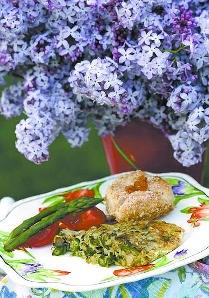 Cathleen Allison/Nevada Appeal Linda Marrone's Asparagus and Cheese Frittata with Lemon Pull-Apart Coffee Cake.