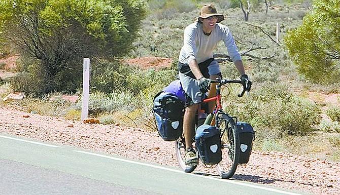 Rick Gunn finishes the more-than-2,000-mile journey across the Australian Outback.