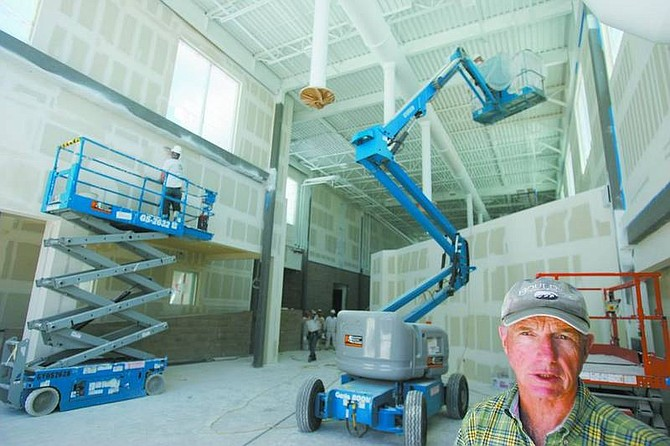 BRAD HORN/Nevada Appeal Carson City School District director of operations Mike Mitchell stands in a section of Carson Middle School, which is being renovated in time for the upcoming school year.