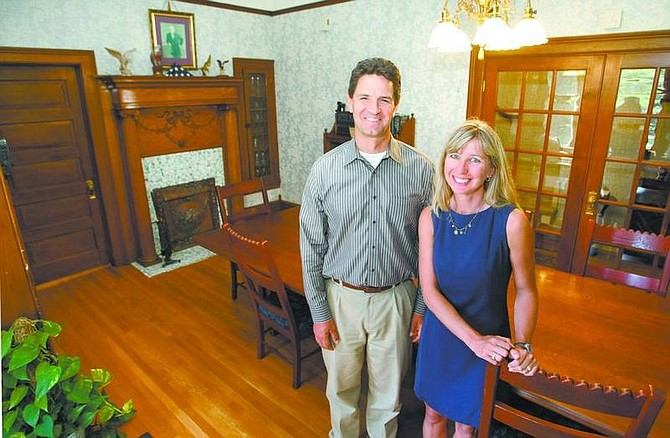 Cathleen Allison/Nevada Appeal Carson City attorneys Paul and Sonia Taggart have made extensive renovations to the Minnesota Street home believed to be Carson City's oldest house. They purchased the building in 2003 and run their law office there.