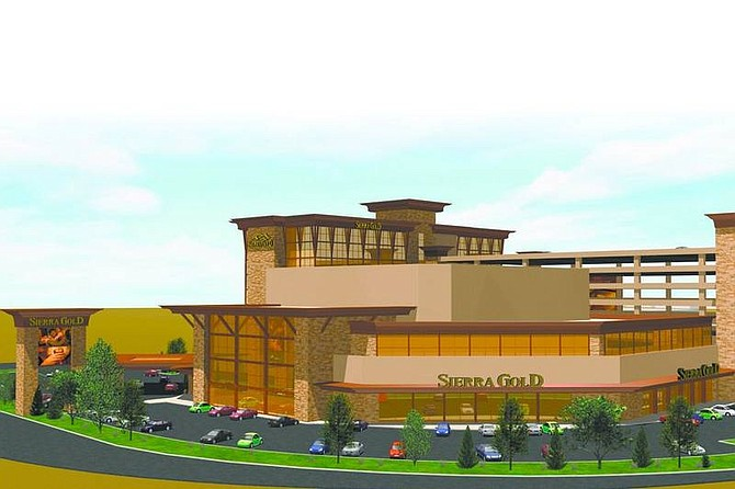 The Sierra Gold casino is seen in a rendering provided by the casino's parent company Golden Gaming Inc., based in Las Vegas. The company wants to invest $100 million in the casino, hotel, parking structure and convention space that would be located on Highway 50 East near the Highway 395 bypass.