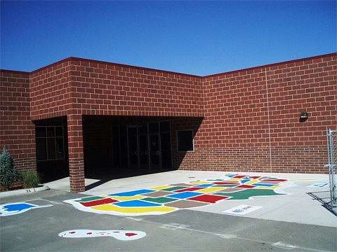 Submitted Photo The Carson AT&T Pioneers recently painted a U.S. map at Bordewich-Bray Elementary School, completing its project to paint the maps at all Carson City elementary schools.