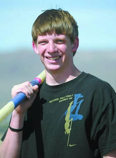 Mike Arnold Carson City High School pole vaulter, senior  Amy Lisenbe/Nevada Appeal
