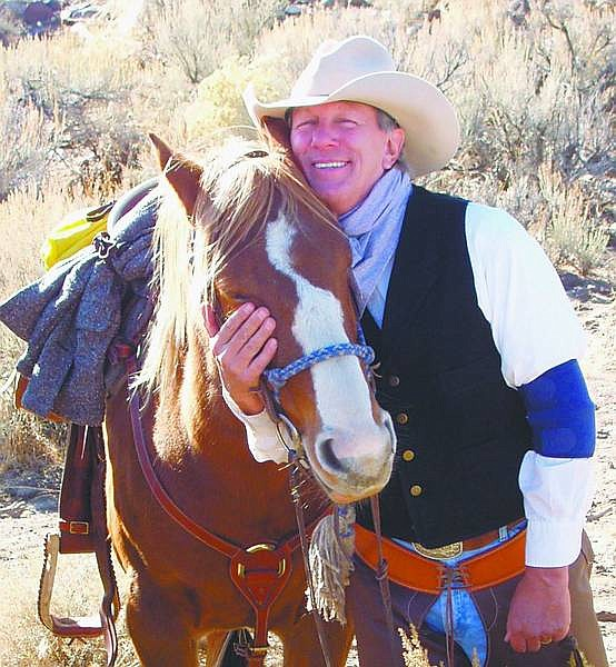 "Contributed photo Paul Hirdler with Bigfoot, will present a 10 a.m. Sunday service at the annual Carson City Rendezvous on June 15 at Mills Park. Hirdler is an ordained minister and prefers the lifestyle of the ""earlier days"" of cowboy living."