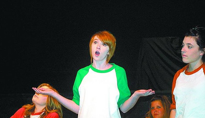 """Sam Bauman/Nevada AppealMelody Ricketts is at a loss during a scene from """"All I Really Need to Know I Learned in Kindergarten."""""""