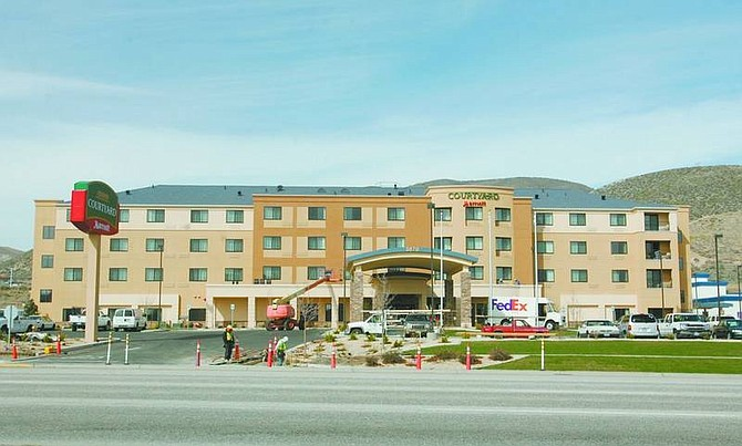 BRAD HORN/Nevada Appeal The $11 million Courtyard by Marriott features 100 rooms with flat screen televisons in each room. The upscale hotel opened on Friday.