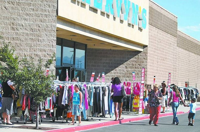 Cathleen Allison/Nevada AppealThe Carson City Mervyns store is one of 26 stores companywide slated for closure, as part of a cost-cutting move following their bankruptcy filing last month.