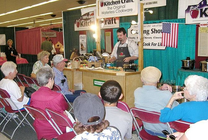 Courtesy photo Attendees at the last year's inaugural Home and Lifestyle Expo listen to a cooking demonstration. This year's Home and Lifestyle Show, which begins Saturday, features product demonstrations and ideas for home improvement.
