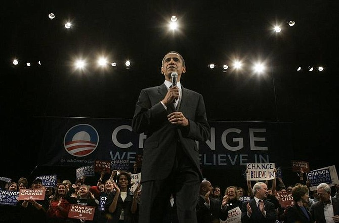 Charles Rex Arbogast/Associated Press Democratic presidential hopeful Sen. Barack Obama, D-Ill., addresses a rally in Columbia, S.C., Friday.