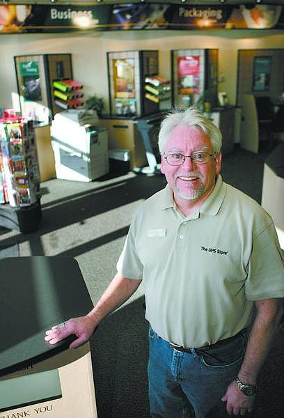 Cathleen Allison/Nevada Appeal Rod Dimmitt is the owner of the UPS store in Dayton.