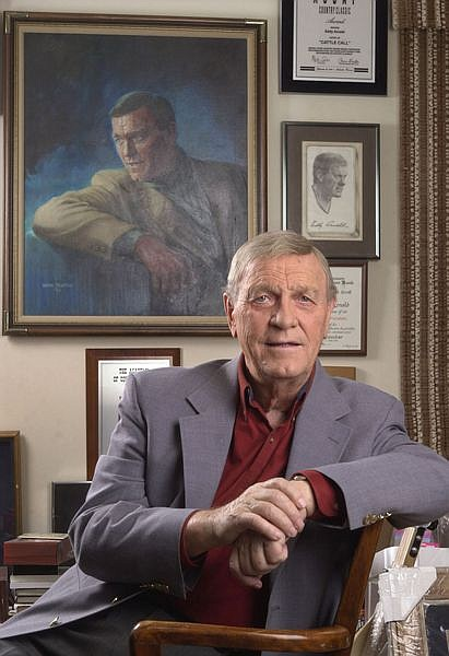 ** In this Jan. 18, 2002 file photo, country music legend Eddy Arnold is shown in his memorabilia-filled office in Brentwood, Tenn. Arnold died at a care facility near Nashville Thursday morning May 8, 2008. He was 89. (AP Photo/Mark Humphrey,File)