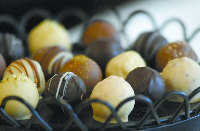 Kevin Clifford/Nevada Appeal Handmade truffles from Grimaldi's of Minden.